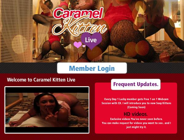 $1 Caramelkittenlive Trial Membership