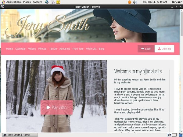Jeny Smith Sign Up Page