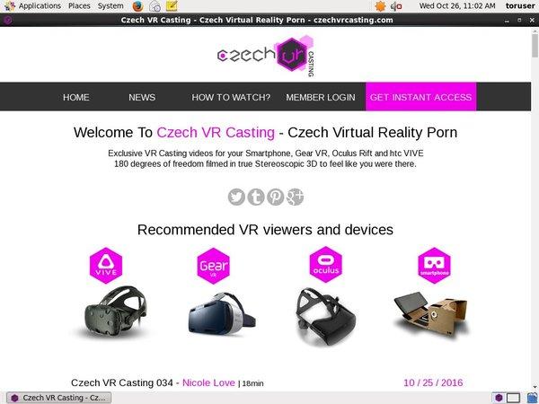 Free Czech VR Casting Trial Membership
