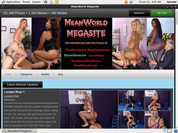 Meanworld.com Accounts Passwords